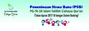 Penerimaan Siswa Baru TK-SD CQ 2017/18